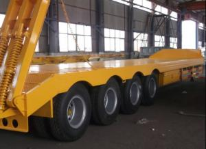 China Strong Semi Low Bed Trailer Truck 4 Axles 120 Tons , Heavy Duty Utility Trailer on sale