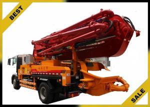 China Remote Control Concrete Boom Pump Truck 200* 150 Concrete Clinder 32mpa System Oil Pressure on sale