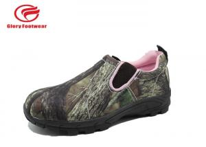 China Olive Green Army Summer Low Top Waterproof Hunting Boots Rubber Outsole Camouflage on sale
