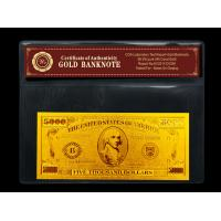 Pure 99.9% 24k gold dollar bill includes Certificate of Authenticity