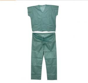 China Single Use Medical Disposable Scrub Suits Protective GownsSoft And Breathable on sale