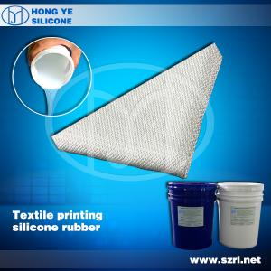 China Silicone rubber for coating textile on sale