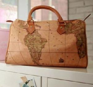 China Big Fashionable Map Bags Tote Bags B002 on sale