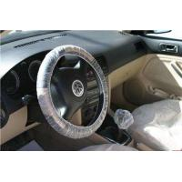 Disposable LDPE HDPE Plastic Steering Wheel Cover 15mic, 20mic Thickness For Auto Car