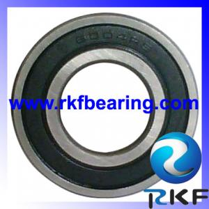 China Low noise black steel Deep Groove Ball Bearings 6004 2RS for Electric motors on sale