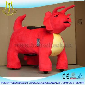 China Hansel cheap amusement park rides coin operated plush animal ride on toy on sale