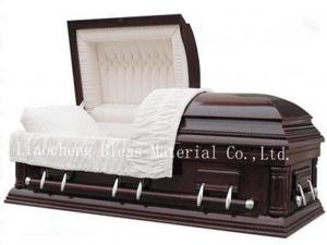 China American style wooden coffin on sale
