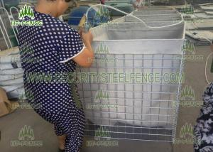 China Easy Installation Welded Mesh Gabions?/ PVC Coated Gabion Box?For Military Security on sale