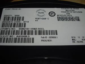 China SSM2167-1RMZ-REEL Power Management IC Chip Class AB Audio AMP on sale