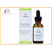 Natural Vitamin C E Serum With Ferulic And Hyaluronic Acid / Organic Anti Aging Serum