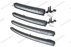 China 4D Optic Lens 300w Curved LED Light Bar 52 Inch Car Roof Light Bar For Automotive on sale
