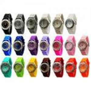 China Diamond Quartz X'mas Japan Quartz Movement Geneva Silicone Wrist Watch 1.5 inches Case on sale