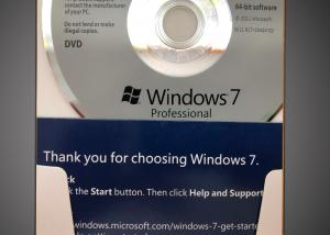 China 32 Bit / 64 Bit Windows 7 Professional Retail Box CD 100% Activation on sale