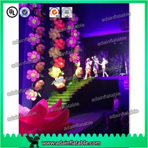 China 10m Popular Wedding Stage Decoration Event Inflatable Flower Chain With LED Light on sale