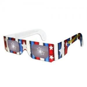 China Fashionable cute children' s cardboard Fireworks 3d glasses with star for 3d picture and book on sale