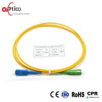 SC/PC-SC/APC Fiber Jumper Patch Cord, G657A, LSZH, 2.0mm, 2.5m Yellow Tube