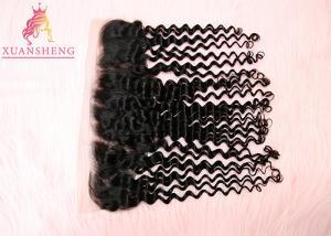 China Full Cuticle 13x4 Lace Frontal Deep Wave 100% Virgin Human Closure Hair on sale
