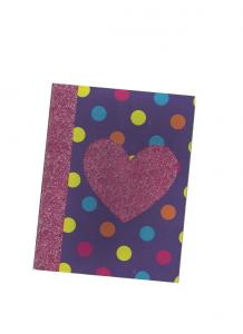 China Spot Glitter finish cardboard cover notebook / Soft Cover Notebooks on sale