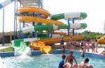Équipement de Waterpark, fibre de verre ouverte/glissière en spirale étroite, taille faite sur commande de diapositives d'eau 11m