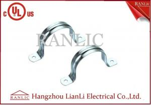 China 2 Hole Rigid Conduit Straps IMC Conduit Fittings Galvanized Conduit Clamp on sale