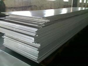 China Silver 0.3mm Thickness 6061 T6 Aluminum Plate For Construction / Transportation on sale