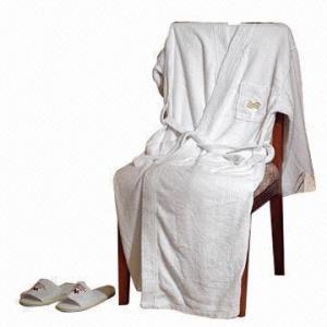 China Hotel bath robe for men/women, cotton towel bath robe on sale