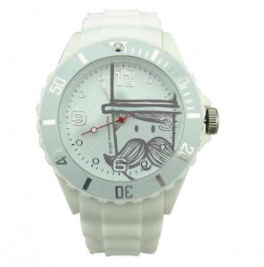 China Waterproof Mens Quartz Watches , Christmas Gift Printing Mustache Brand Watch on sale