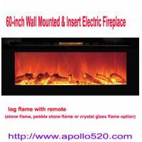 China 60インチの壁に取り付けられた&リモートが付いている電気暖炉を挿入して下さい on sale