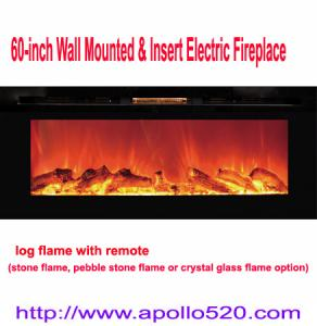 China Black Wall Insert Electric Fireplace with Heater on sale