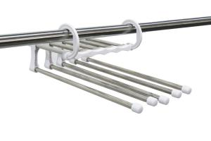 China Stainless Steel Multi-Purpose Magic Storage Rack Space Saving Hangers For Wardrobe / Closet on sale