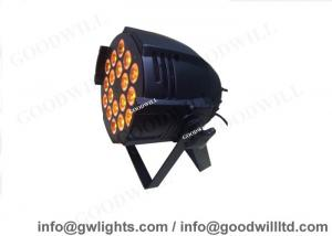 China Colorful 18 X 18W 6 IN 1 RGBWAM DMX LED PAR Can Lights for Disco / Wedding Party Lamp on sale