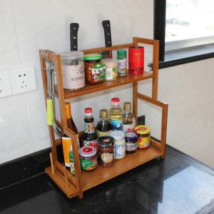 China kitchen bamboo spice rack on sale