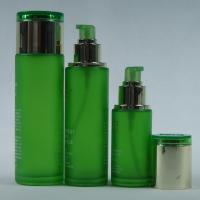 Green Glass Lotion Bottles Pump Glass Cosmetic Cream Jars 1-100ML