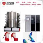 ABS Shoe Heels PVD Chrome Plating Equipment / Vacuum Plating Machine Wear Resistance