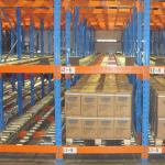 Warehouse Inventory Pallet Live Racking Steel Material Customized Color