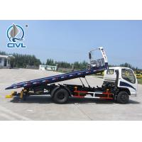 China 3800 Wheelbase HOWO Truck Mounted 4x2 6.2M Flatbed Tow Truck / Wrecker Vehicle on sale