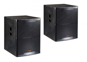China 600W Black Pro Subwoofer Pa Sound System Speaker For Music Events on sale