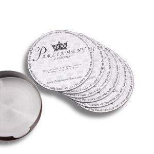 China Classic Custom Drink Coasters 6pcs Sets With Holder Advertising Gifts on sale