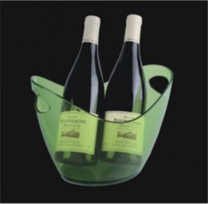 China Plastic Small wine ice bucket with custom logo printing on sale