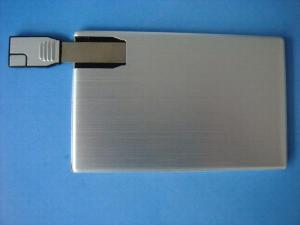 China Custom logo metal card usb flash memory on sale