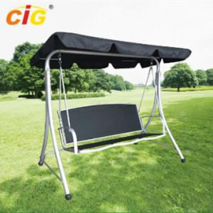 China 3 Seat Metal Frame Outdoor Patio Swing With Canopy , Stand Alone Garden Swing Seat on sale