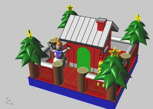 China Inflatable Christmas Tree / House Children Inflatable Jumping Castle For Kids on sale