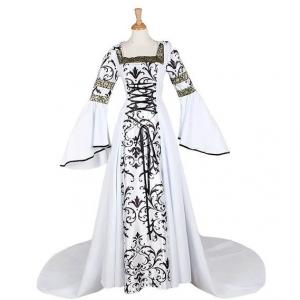 China Medieval Dress Wholesale XXS to XXXL CosplayDiy Women's Medieval Victorian Renaissance Gothic Costume Dress supplier