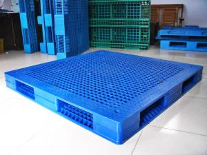 Quality Rackable Plastic Shipping Pallets For Storage Distribution Blue Pallet Recycling Sale
