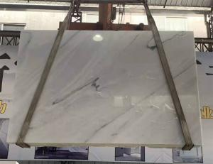 China Wall Greece Ariston Marble Stone Slab , White Marble Brown Veins Tile Vanity Top Slab Floor wholesale