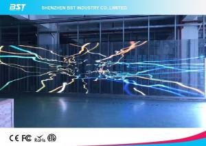 China P7.81mm Transparent Led Mesh Curtain , Led Video Wall Display Screen High Resolution on sale