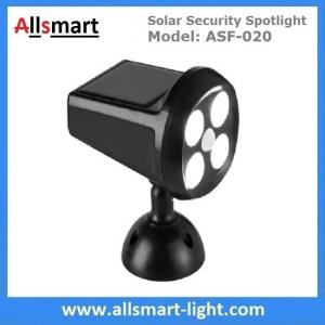 China Solar Security Spotlight with Motion Sensor 4LED 350LM Wireless Battery Powered Simulation Camera Light on sale
