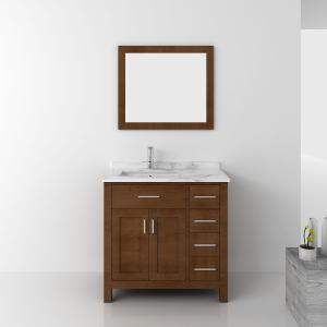 Quality Home Furniture Vanity MDF Hotel Bathroom Mirror Cabinet with Basin for sale