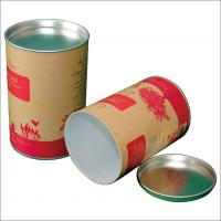 China Paper  Composite Cans with Flat Metal Lid For Jeans , T - shirt , custom paper tubes on sale
