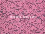 Rose Red Corded Lace Fabric Fashion Flower Design 150cm Width SYD-0132